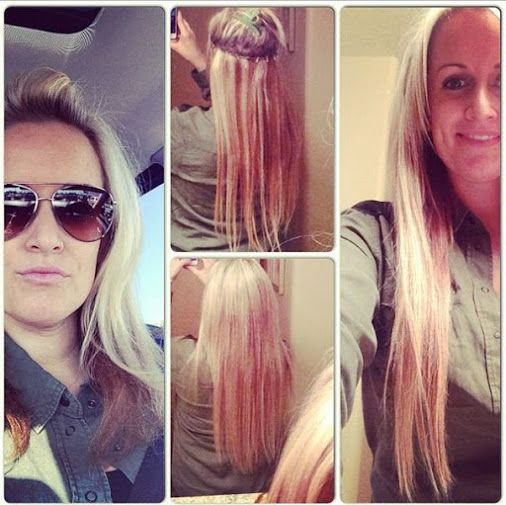 Easy lockn long hair had to put back in to feel like me! Hair extensions #longhair #notclipins #diyhairextensions.