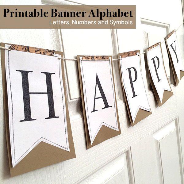 Printable Full Alphabet for Banners | Pinterest Best ...