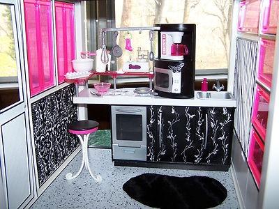 OOAK Diva Barbie Dream House Furniture Sweet 1600 Monster High Mansion Très  Chic