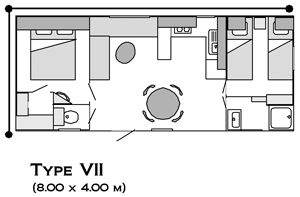 Type VII | Camping la Nautique – Narbonne – Aude – sud de France