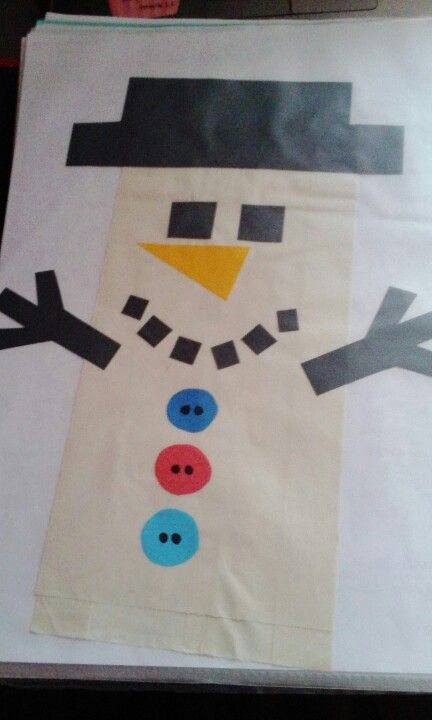 Papírový sáček - maňásek