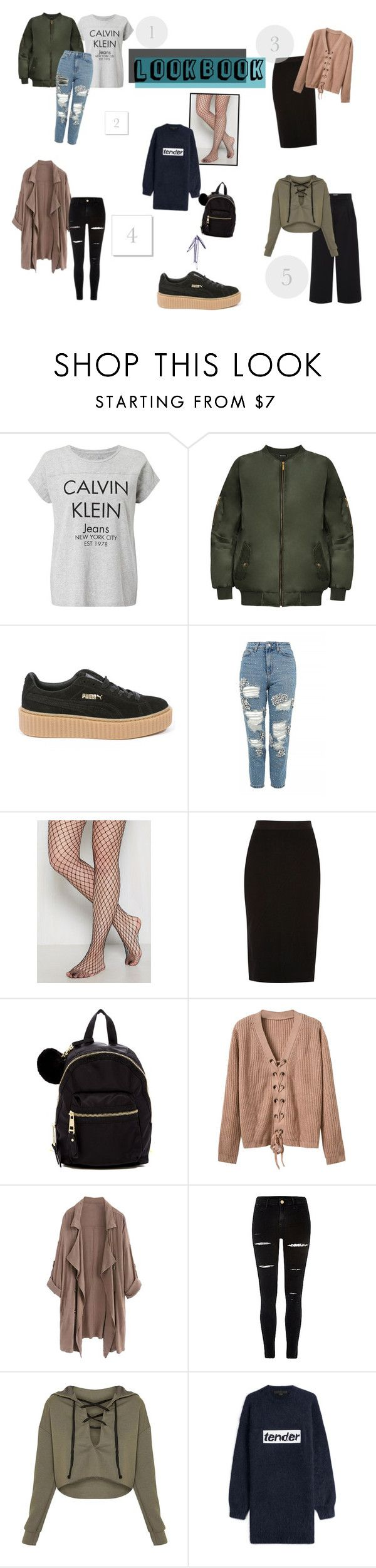 """""""How to dress your platform sneakers: lookbook"""" by trakster ❤ liked on Polyvore featuring Calvin Klein, WearAll, Puma, Topshop, River Island, Madden Girl, WithChic and Alexander Wang"""