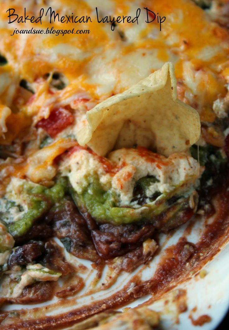 Baked Mexican Layered Dip