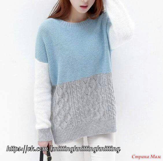 нашла очень красивый свитер на просторах интернета, ищу компанию для совместного вязания - Вязание - Страна Мам