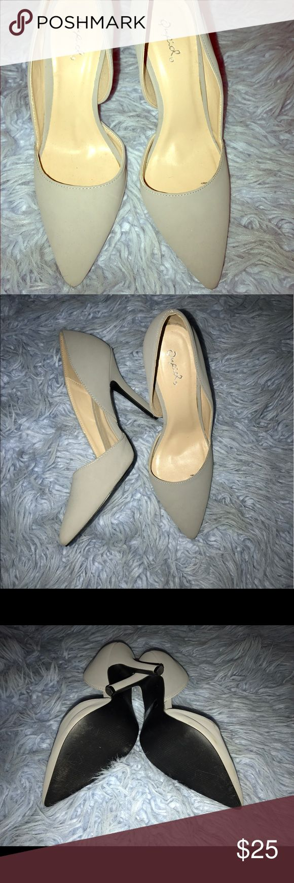 *NEW* Soft Grey Pumps! Very comfortable!!! And of course....chic. All inquiries send an email to beesochic@gmail.com Qupid Shoes Heels