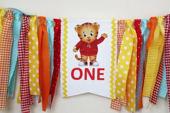 Daniel Tiger 1st Birthday Highchair Banner  by MyLittleBoobug