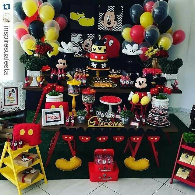 134 best images about mickey mouse todo referente fiesta - Ideas decoracion fiesta ...