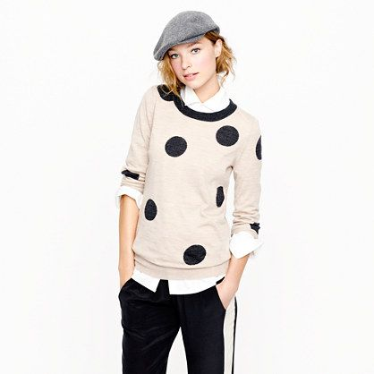 Tippi sweater in polka dot: Hats, J Crew Tippi, Fashion, Polka Dots, Style, Jcrew Madewell Anthro Closet, Dots Sweaters, Outfit, Tippi Sweaters
