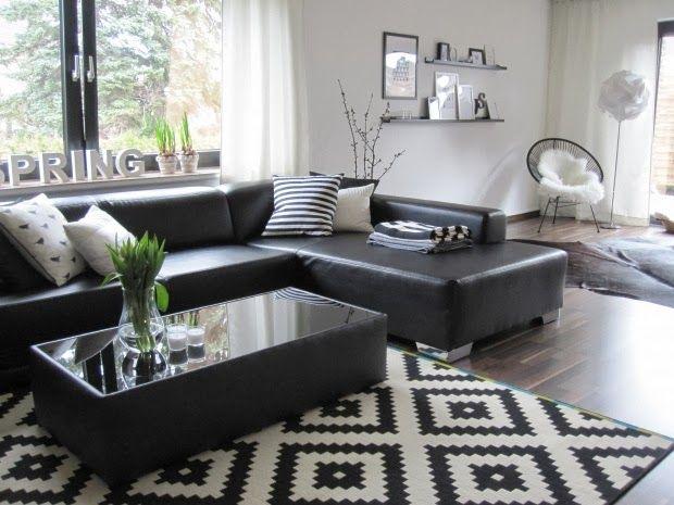 Las 25 mejores ideas sobre salas en blanco y negro en - Decoracion salon blanco y negro ...