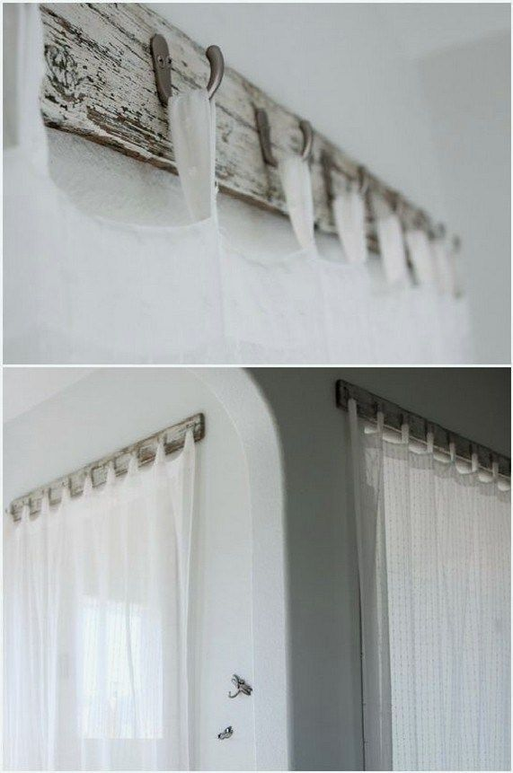 24 Simple Farmhouse Window Treatments 22 Unique Curtains Wood