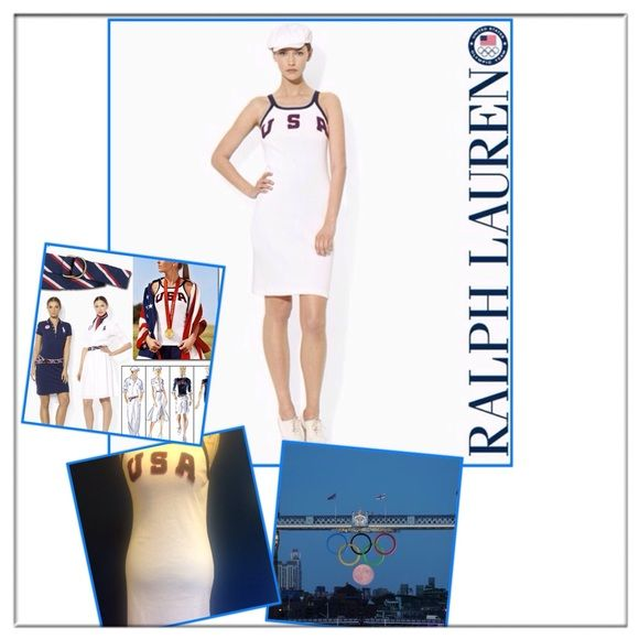 Ralp Lauren 2012 Olympic tennis dress This dress was the 2012 USA Olympic team's outfit designed by Ralph Lauren. It's so special and rare to find anywhere.✨100% cotton.✨Olympic logo is on the back 4rd picture...✨ Ralph Lauren Dresses