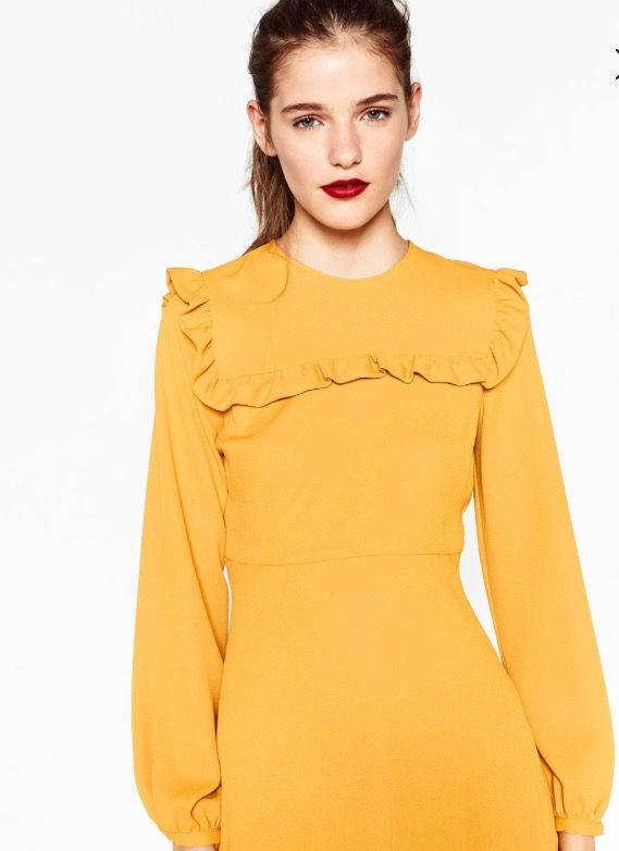 Zara yellow dress