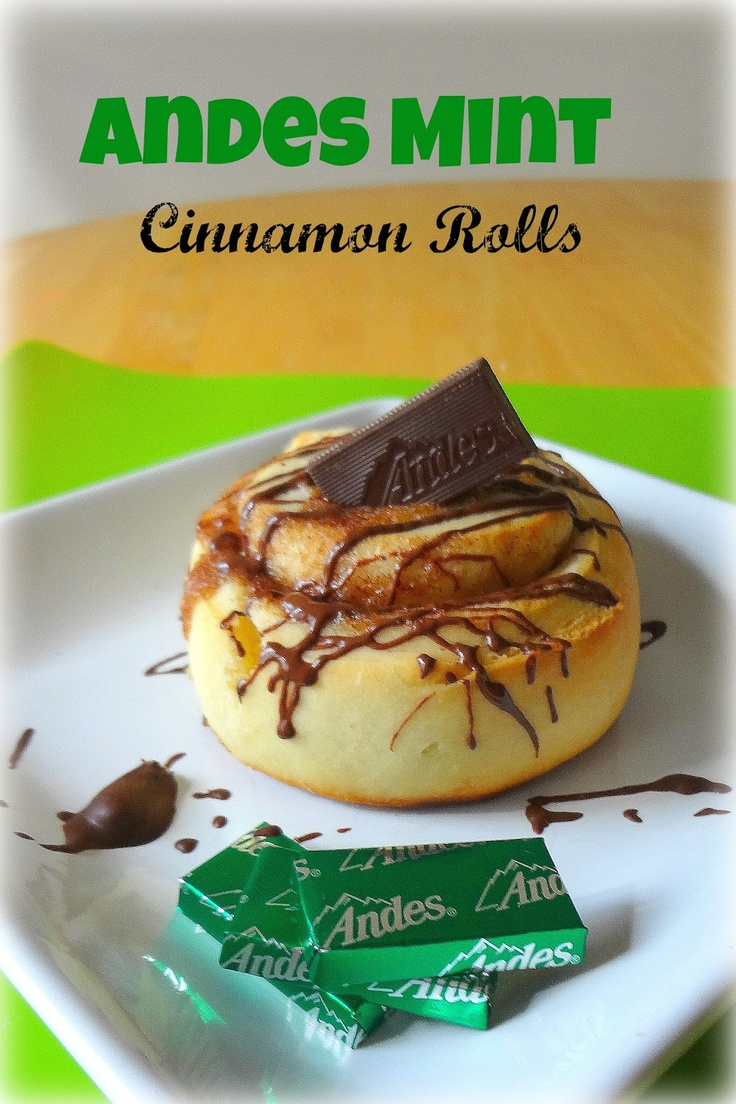 Andes Mint Cinnamon Rolls