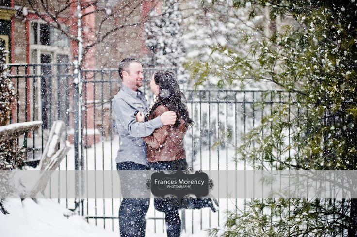 Winter Engagement Blue Mountain Village Collingwood