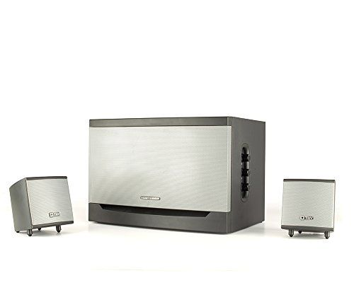 Thonet and Vander Riss 160 Watt Wood Multimedia Audio Speaker System 21 Stereo Speakers with Integrated Amplifier and Dual RCA Stereo Inputs Black >>> Click image for more details.