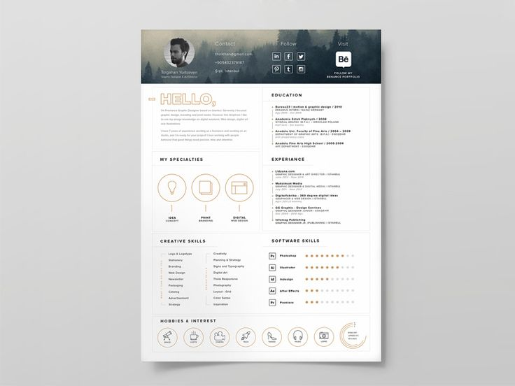 A clean and simple creative resume template you can use to make - author resume
