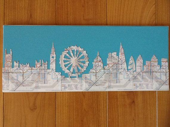Die Skyline von London fein geschnitten aus von JessAmyDesignsUK