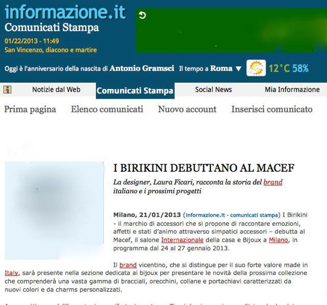 IBIRIKINI AL MACEF International Bijoux Show 2013! IBIRIKINI  DEBUTTANO AL MACEF DI MILANO! ;) www.ibirikini.com