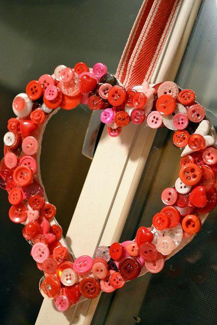 Valentine Button Heart by BronwynHomeschoolMom, via Flickr