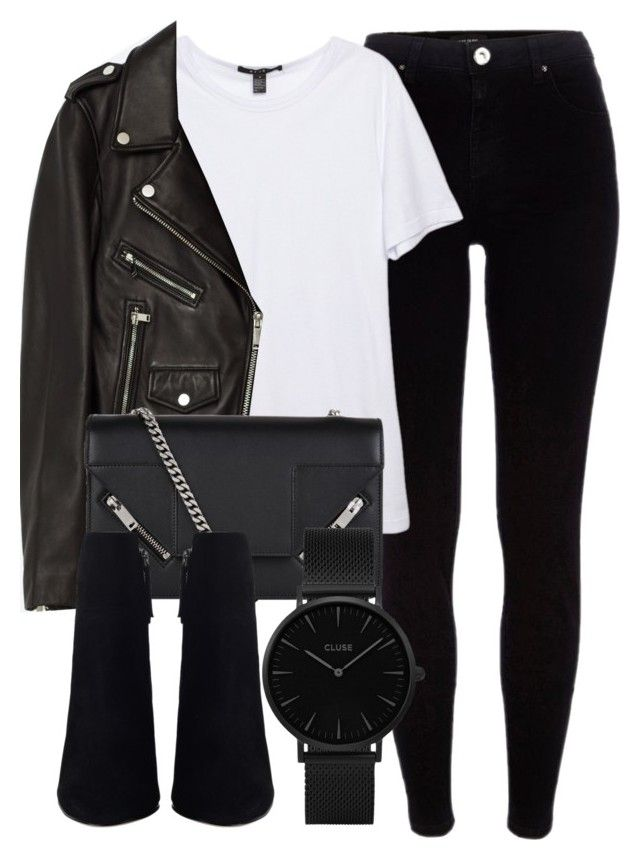 Untitled #6708 by laurenmboot on Polyvore featuring polyvore, fashion, style, Jakke, River Island, Yves Saint Laurent, CLUSE and clothing