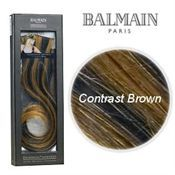 Balmain Clip on hair extensions Contrast Brown 15 cm