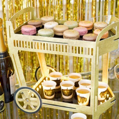 Gold Party » Mister & Miss Party  #Trolley #CarritoDulces #GoldParty