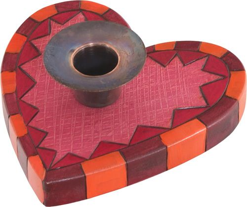 Small Heart-Shaped Candlestick