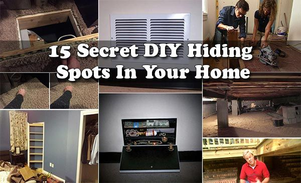 15 Secret DIY Hiding Spots In Your Home