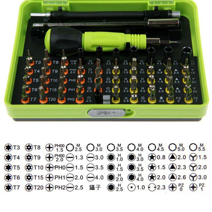 53 in1 Steel Multi Tool Set Tangan Alat Perbaikan Alat Kit presisi Obeng Set Alat Kotak untuk Ponsel Laptop PSP untuk rusia