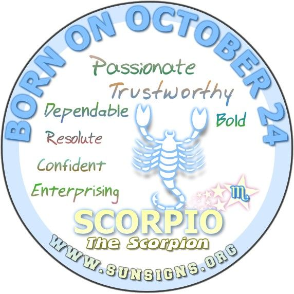 IF YOUR BIRTHDAY IS ON OCTOBER 24, you as a Scorpio are not afraid of a little challenge or a big one for that matter.