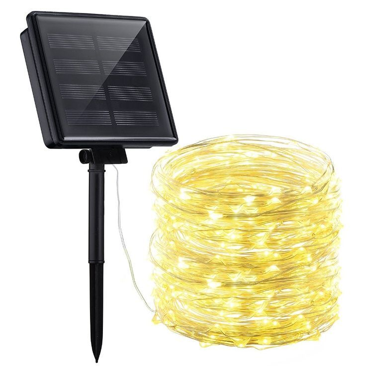 Solar Powered String Lights 5m 50led Motion Sensor Lamp Copper