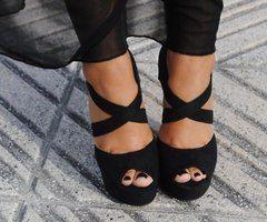 These black heels