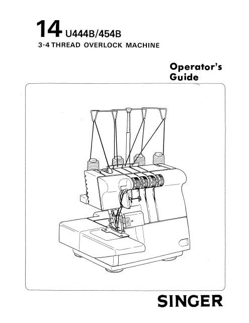 Singer 40u40B40U40B Overlock Sewing Machine Instruction Manual Inspiration Singer Industrial Sewing Machine Manuals Free