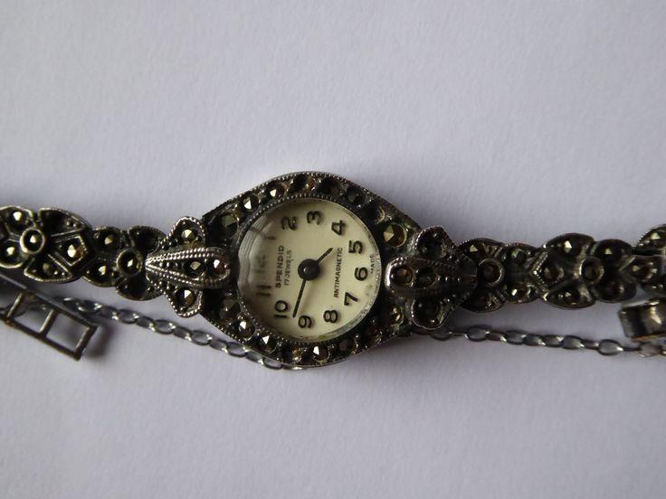 Vintage Art Deco Marcasite Spendid Mechanical Cocktail Watch (parts repairs) - The Collectors Bag