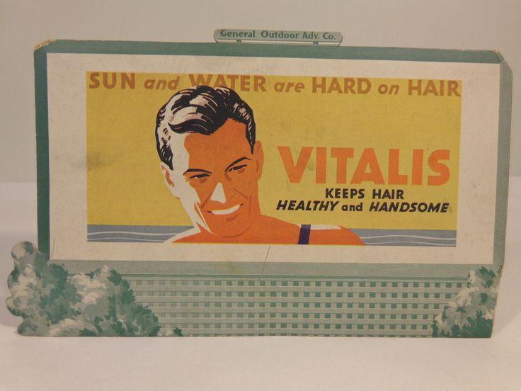LIONEL BILLBOARD VITALIS HAIR TONIC STANDARD GAUGE #X2132 #Lionel
