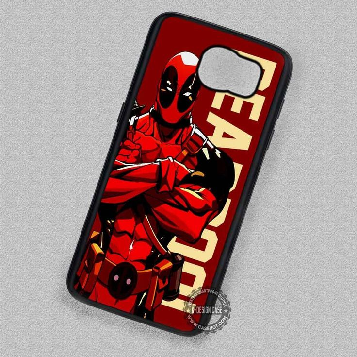 Men in Red Suit Deadpool Cartoon - Samsung Galaxy S7 S6 S5 Note 7 Cases & Covers