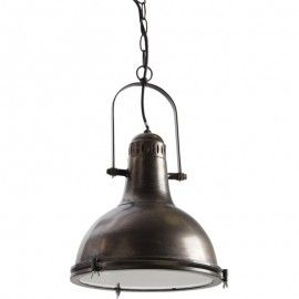 Lampe Industrielle -  Suspension Lustre Noir - Déco Loft Vintage rétro
