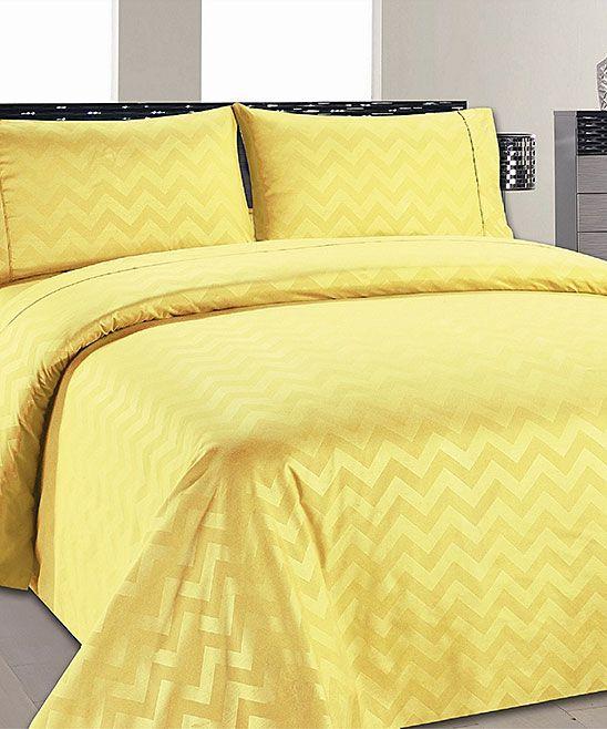 Yellow Chevron Sheet Set