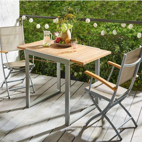 Outdoor Stuhl Set 2 Tlg Klappbar Capri Balkontisch Outdoor Stuhle