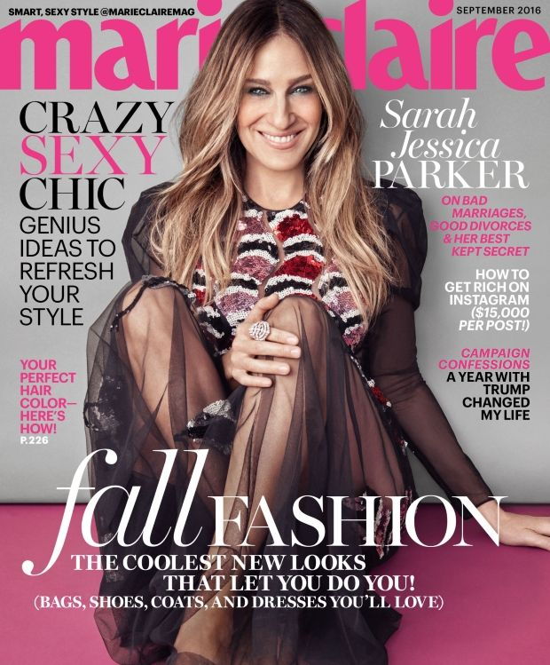 Sarah Jessica Parker Gives Us Her 'Best Magazine Cover In Years' for Marie Claire's September Issue. No one does high fashion like SJP!
