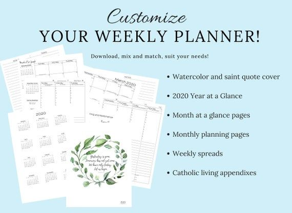 2020 2021 Traditional Latin Catholic Weekly Planner Printable Latin Mass Tridentine Mass Liturgical Calendar Tlm Extraordinary In 2020 Weekly Planner Homeschool Daily Schedule Printable Weekly Planner Printable