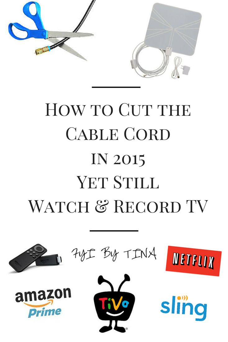 This was written in 2015 but, still works today. How to Cut the Cable Cord & Still Watch TV. People, it is 2015!! There is no need to pay the large cable providers all your hard earned money anymore! You can still watch TV, record your favorite shows, and watch Sports without paying a large cable bill.