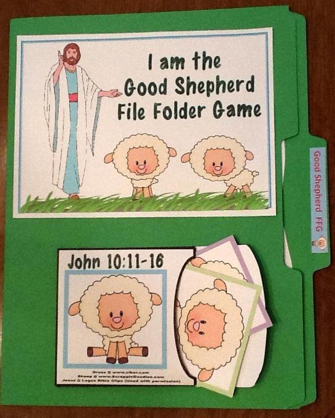 Bible Fun For Kids: Jesus The Good Shepherd File Folder Games & More for Preschool