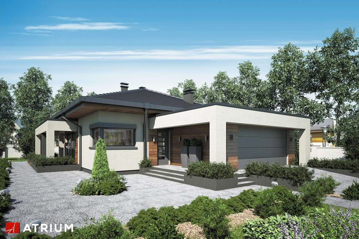Projekt domu parterowego SARDYNIA PLUS - wizualizacja 1