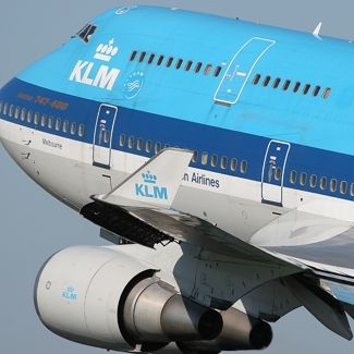 KLM...where the Dutch fly with their knees under their chins.