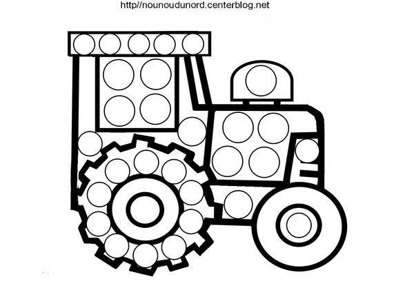 Coloriage tracteuràgommettesdessiné par nounoudunord. Imprimerle fichier cliquez:.acrobat.com Tous mes coloriages à gommettes :.ici.  Mes gommettes à imprimer :-ici-  je vous ...