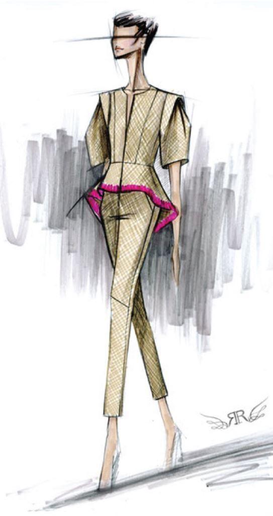 Эскизы дизайн одежды