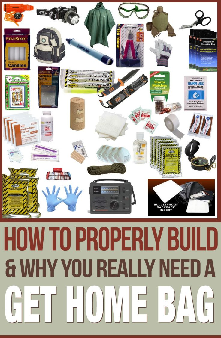 Learn how to properly build a get home bag for emergencies.