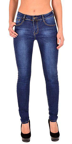 07bb28bb8a8c by-tex Damen High Waist Jeans Hose Damen Jeanshose Skinny Hochbund Hose bis  Übergröße 48