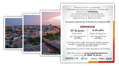 """En Riohacha: """"Negocia Turismo"""" cierra inscripciones este lunes 3 de julio"""